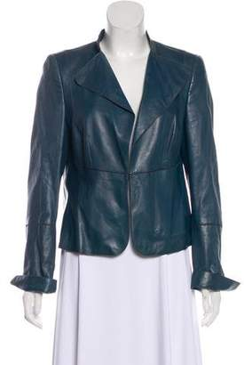 Akris Leather Casual Jacket