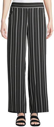 Max Studio Striped Wide-Leg Ankle Pants