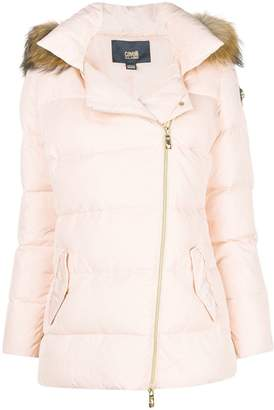 Class Roberto Cavalli racoon fur trim padded coat