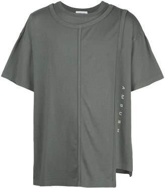 Ambush layered cotton t-shirt green