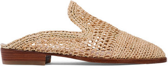 Robert Clergerie - Antes Raffia Slippers - IT35 $450 thestylecure.com