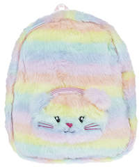 Accessorize Rainbow Fluffy Backpack