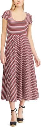 Chaps Women's Tropical Fit & Flare Midi Dress