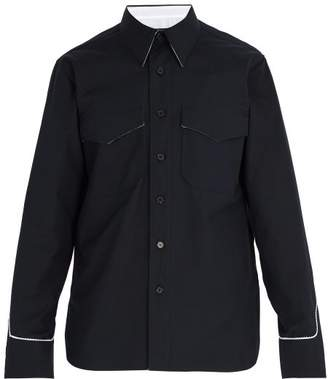 Calvin Klein Western Inspired Cotton Shirt - Mens - Navy