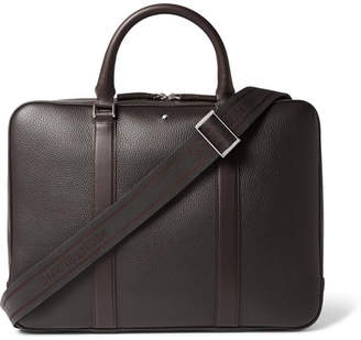 Montblanc Full-Grain Leather Briefcase - Dark brown