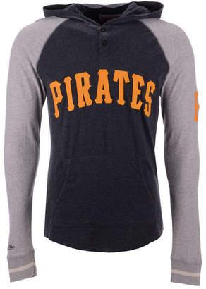 Mitchell & Ness Men Pittsburgh Pirates Slugfest Lightweight Hooded Long Sleeve T-Shirt