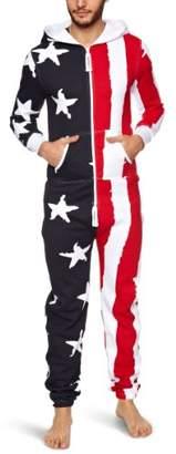 One Piece OnePiece Stars & Stripes Loungewear Onesie Jumpsuit Red/White/Navy