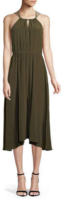 Milly Mykonos Cross-Back Halter Dress