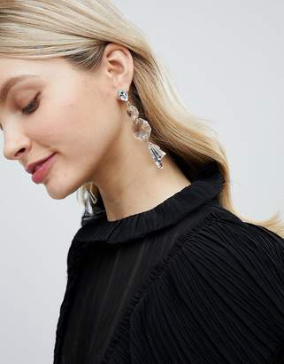clear Liars & Lovers Drop Statement Earrings
