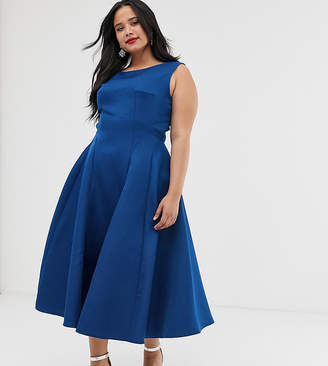 Plus Size Cobalt Blue Dress - ShopStyle