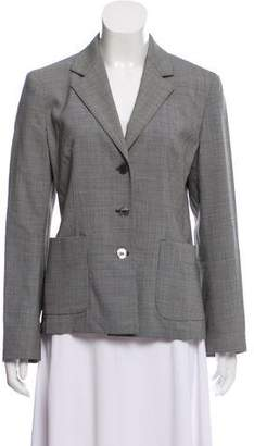 Max Mara Virgin Wool Houndstooth Blazer