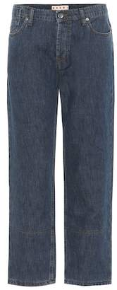 Marni Cuffed cotton and linen jeans