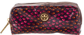 Tory Burch Tory Burch Printed Coated Canvas Cosmetic Bag