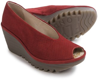 Fly London Yury Perf Shoes - Nubuck, Wedge Heel (For Women) $119.99 thestylecure.com