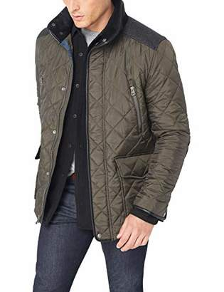 Cole Haan Men's Quilted Jacket with Wool Yoke