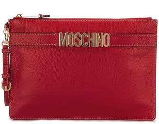 Moschino logo strap clutch