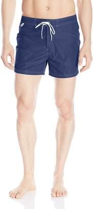 Sundek Men's Classic 14 Inch Fixed Waist Low Rise Boardshort