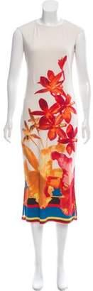 Issa Printed Midi Dress Tan Printed Midi Dress
