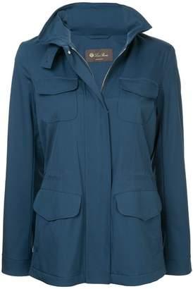 Loro Piana concealed hood raincoat