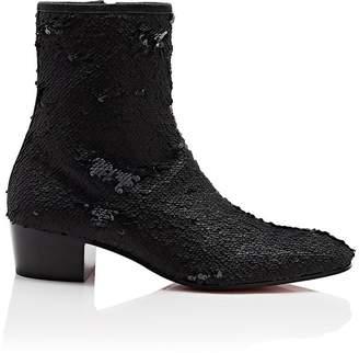 Christian Louboutin Men's Huston Paillette Ankle Boots