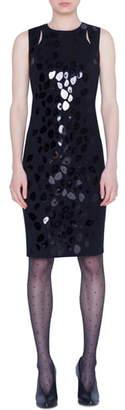 Akris Punto Animal Dot Paillette Sheath Dress