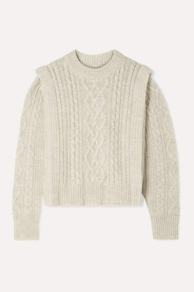 Etoile Isabel Marant Tayle Cable-knit Wool Sweater - Ecru