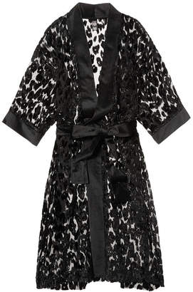 Very Sexy Velvet Leopard Kimono
