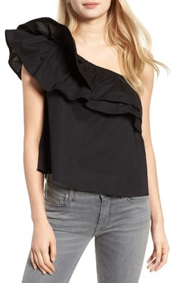 Women's Sincerely Jules Everly One-Shoulder Cotton Top $98 thestylecure.com