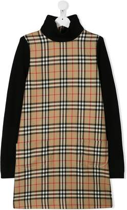 Burberry check print dress