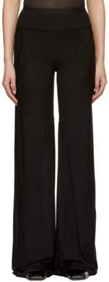 Rick Owens Lilies Black Wide-Leg Lounge Pants