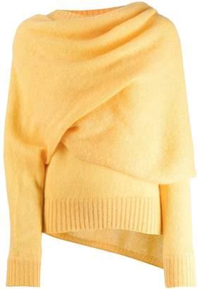 REJINA PYO draped neck jumper