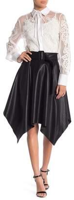 Gracia Faux Leather Midi Skirt