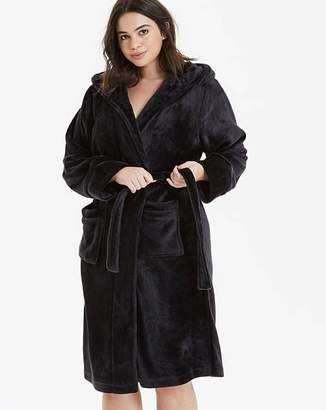 Pretty Secrets Fleece Wrap Black Gown L38in
