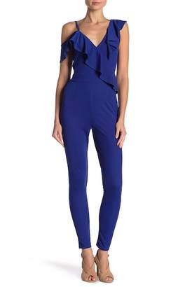 TOV Ruffle Off The Shoulder Jumpsuit