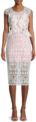 Alexis Pepa Cut-Out Lace Midi Dress
