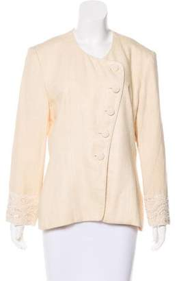 Christian Dior Embellished Asymmetrical Jacket