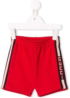 Gucci Kids stitched lining shorts