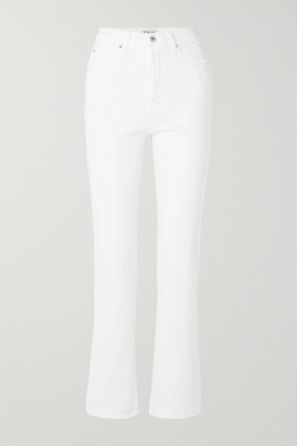 Eve Denim Juliette High-rise Straight-leg Jeans - White