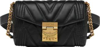 MCM Patricia Belt Bag In Quilted Metallic Leather