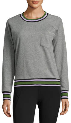 Cynthia Rowley Active Varsity Trim Sweatshirt