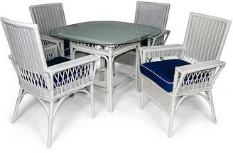 One Kings Lane Windsor 5-Pc Outdoor Dining Set - Navy