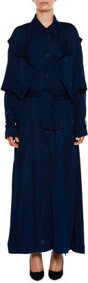 Stella McCartney Long Button-Front Trench Dress