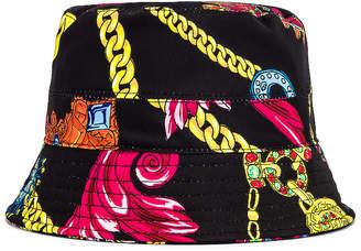 Versace Cap in Nero & Stampa   FWRD