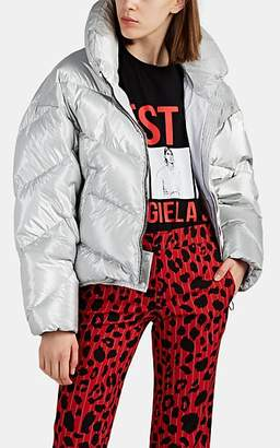 IENKI IENKI Women's Down Crop Oversized Puffer Jacket - Silver