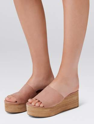 Forever New Kerry Flatform Sandals - Dusty Pink - 37