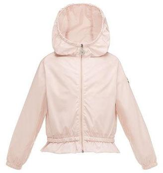 Moncler Camelien Short Hooded Lightweight Jacket, Pink, Size 2-3 $195 thestylecure.com