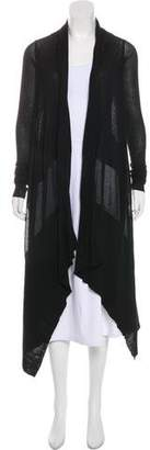 Rick Owens Open-Front Knit Cardigan