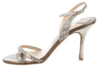 Jimmy Choo Glitter Multi-Strap Sandals