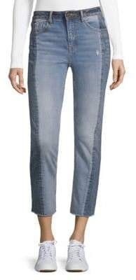 Vigoss Straight Ace Two-Tone Cropped Jeans