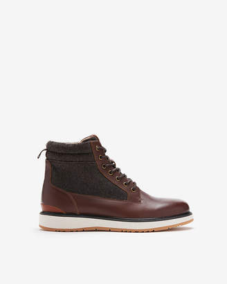 Express Leather Lace-Up Boots